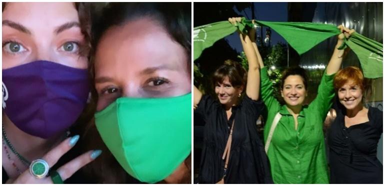 Actrices, periodistas y cantantes celebraron la legalización del aborto
