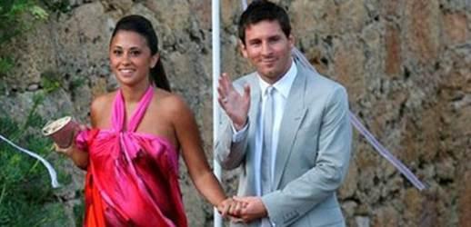 Lio Messi y Antonella Rocuzzo