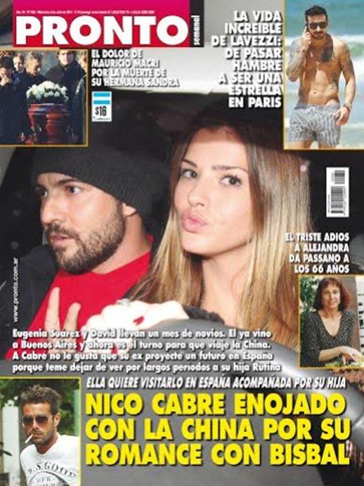 Nico cabr enojado con la china por su romance con bisbal for Revista pronto primicias ya