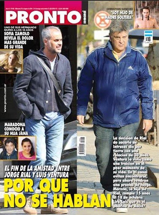 El fin de la amistad entre jorge rial y luis ventura por for Revista pronto primicias ya