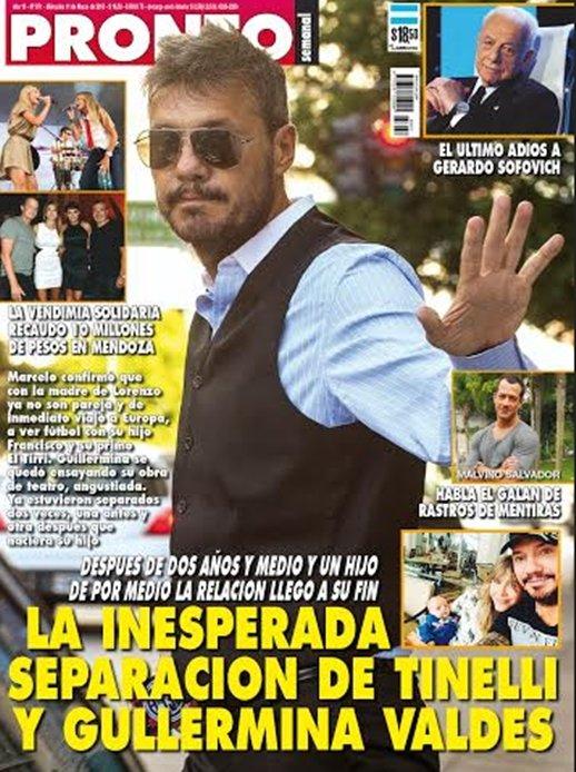 La inesperada separaci n de tinelli y guillermina valdes for Revista pronto primicias ya