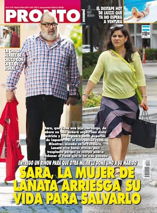 Sara la mujer de lanata arriesga su vida para salvarlo for Revista pronto primicias ya