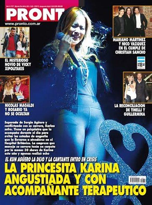 La princesita karina angustiada y con acompa ante terape tico for Revista pronto primicias ya