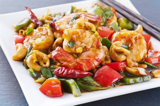 Recetas de camarones al wok