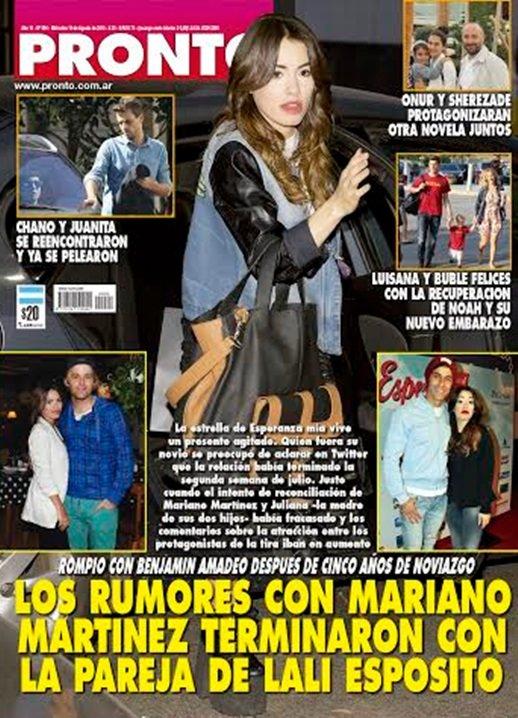 Los rumores con mariano martinez terminaron con la pareja for Revista pronto primicias ya