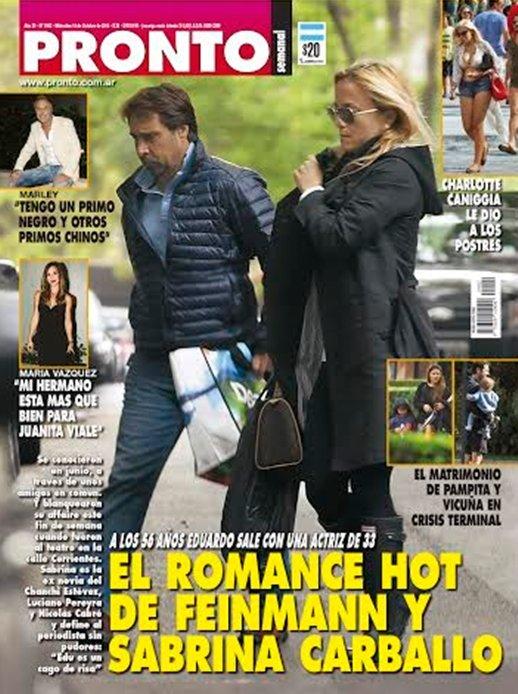 Escandaloso romance de eduardo feinmann con sabrina for Revista pronto primicias ya
