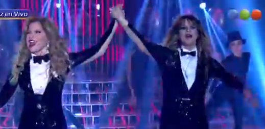 Leticia Bredice y Gloria Trevi (Captura TV)