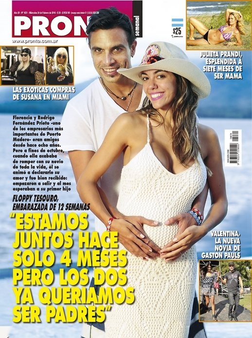 Floppy tesouro embarazada estamos juntos hace 4 meses for Revista pronto primicias ya