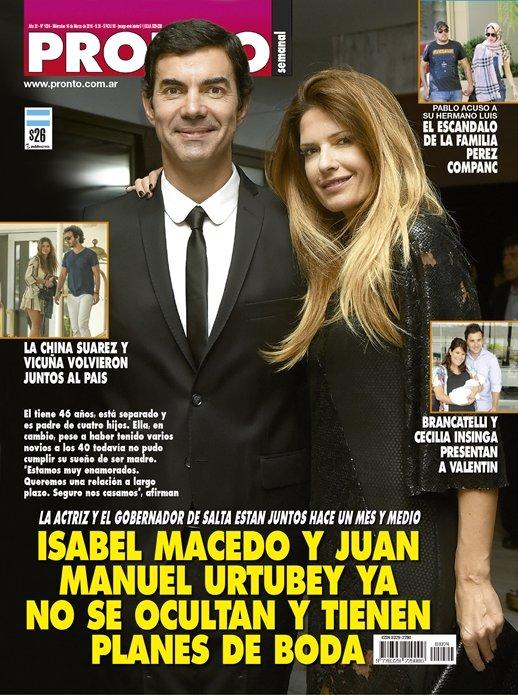 Macedo y urtubey ya no se ocultan y tienen planes de boda for Revista pronto primicias ya