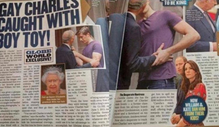 Pescaron al príncipe Carlos a los besos con un hombre — In fraganti