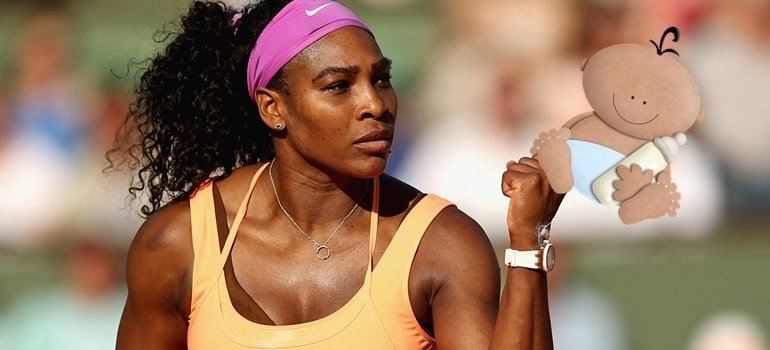 Serena Williams…¡Embarazada de cinco meses!
