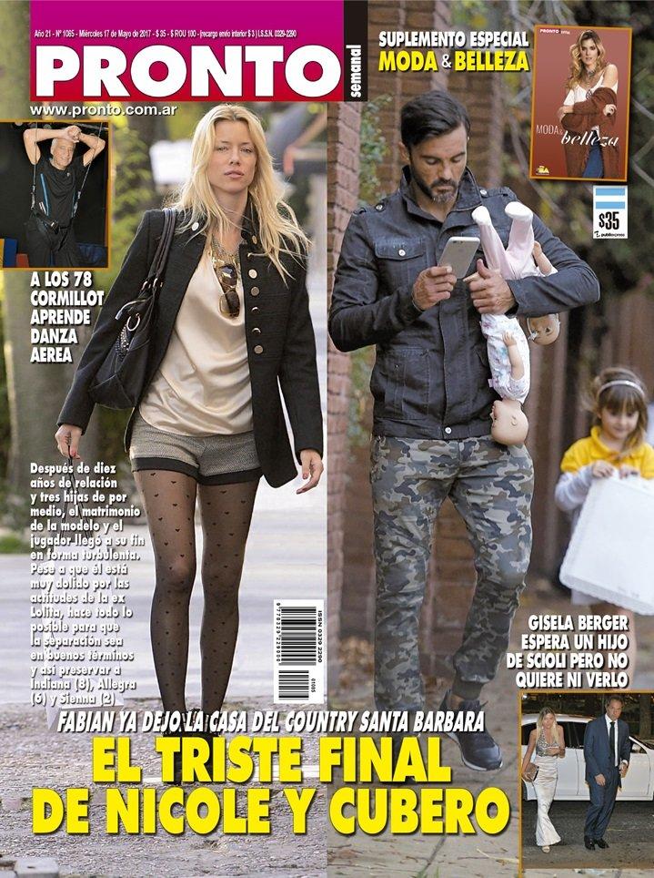 El triste final de nicole y cubero tapas revista for Revista pronto primicias ya