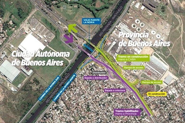 Macri parafraseó a Perón al inaugurar obras en Puente La Noria