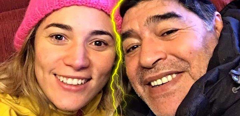 CHAU, CHAU, ADIÓS: Maradona confirmó su separación de Rocío Oliva