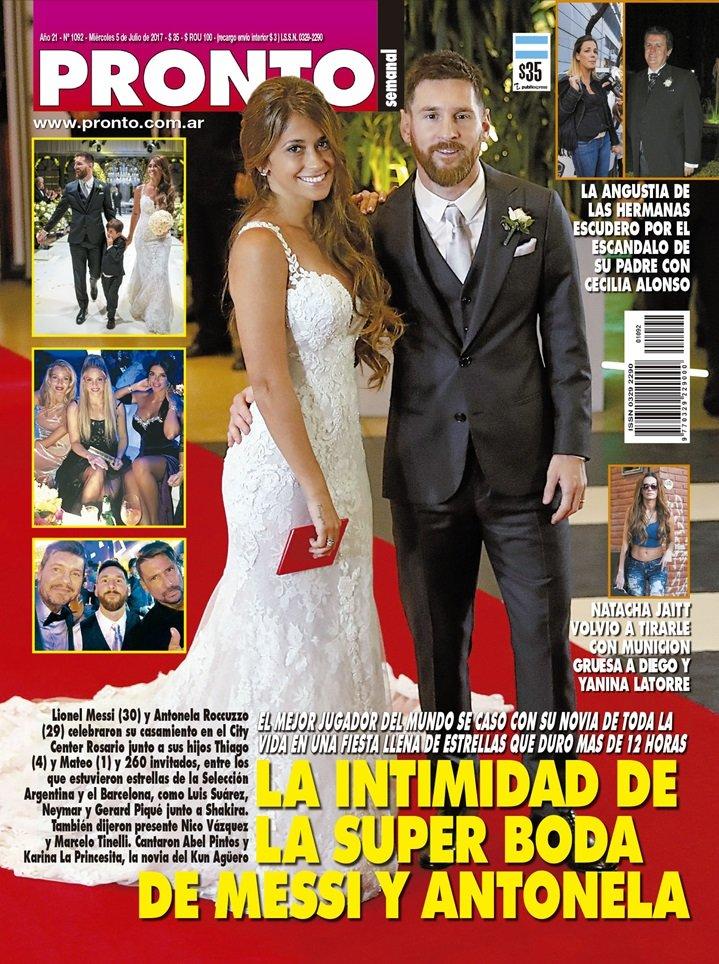 La intimidad de la super boda de Messi y Antonella