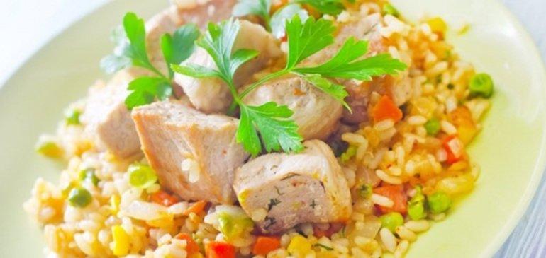 Receta wok de pollo y arroz