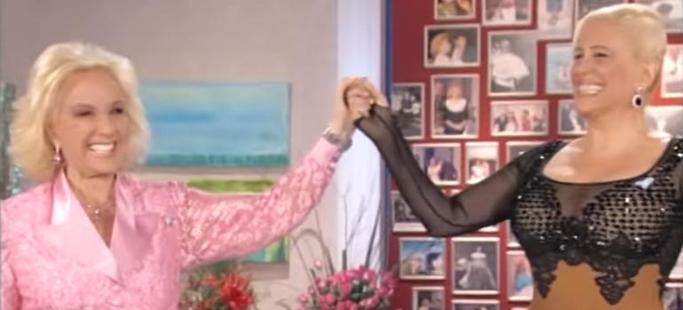 """El día que Mirtha Legrand hizo un dubsmash de """"Señor amante"""" de Valeria Lynch"""