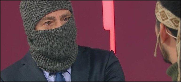 Nicolás Repetto se puso una capucha para entrevista a Jones Huala y estallaron las redes sociales