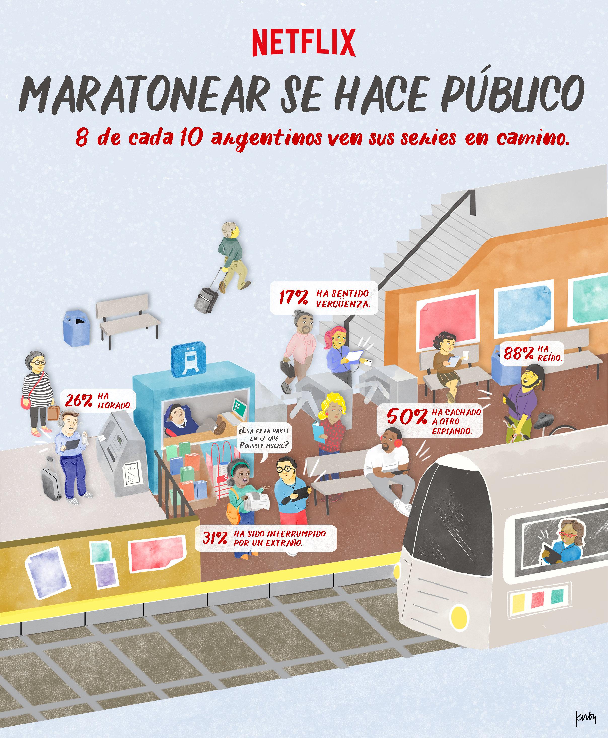 Netflix: 8 de cada 10 argentinos ven series en público