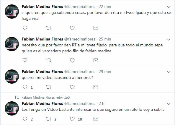 Acusaron a Fabián Medina Flores por pedofilia