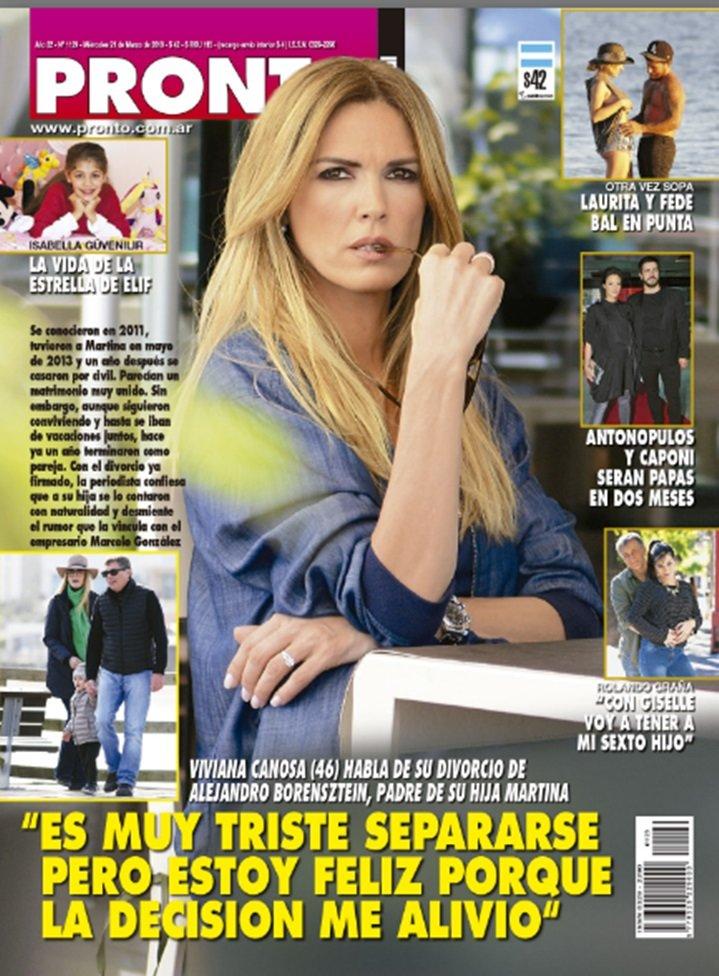 Viviana canosa habla de su divorcio de alejandro for Revista pronto primicias ya