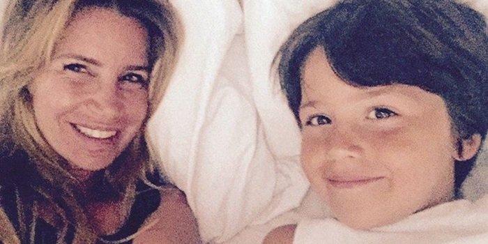 El divertido video de Flor Peña y su hijo en el supermercado