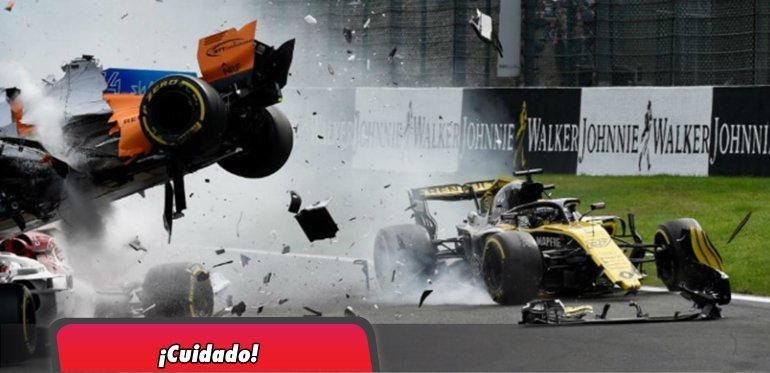 Tremendo accidente en el GP Bélgica F1