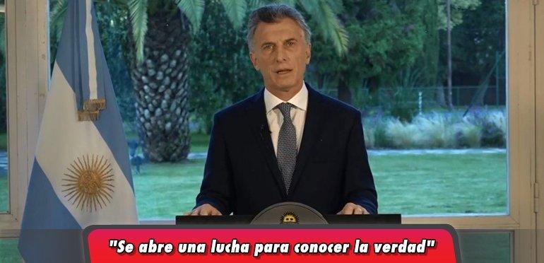 Mauricio Macri expresó su dolor en homenaje a los 44 tripulantes del ARA San Juan