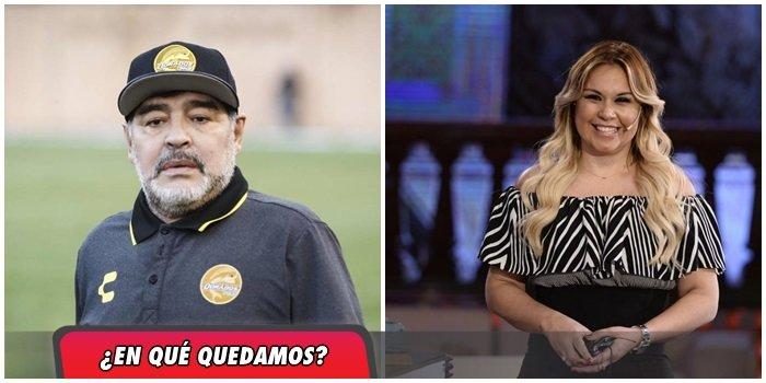 Verónica Ojeda desmintió haberse separado de Maradona