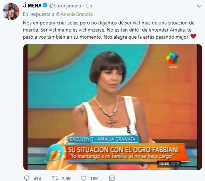 ¡Epa!: feroz cruce entre Granata y Jimena Barón por el #yocriosola