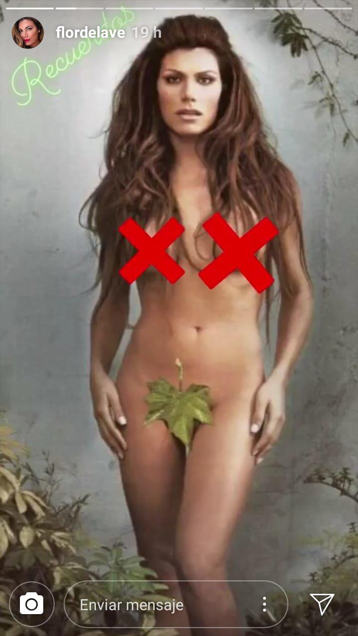 La foto retro de Flor de la V completamente desnuda que estalló en las redes
