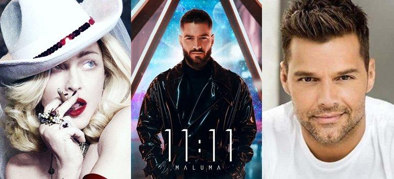 "Resultado de imagen para Maluma  ""11:11""  Madonna, Nicky Jam y Ricky Martin youtube"