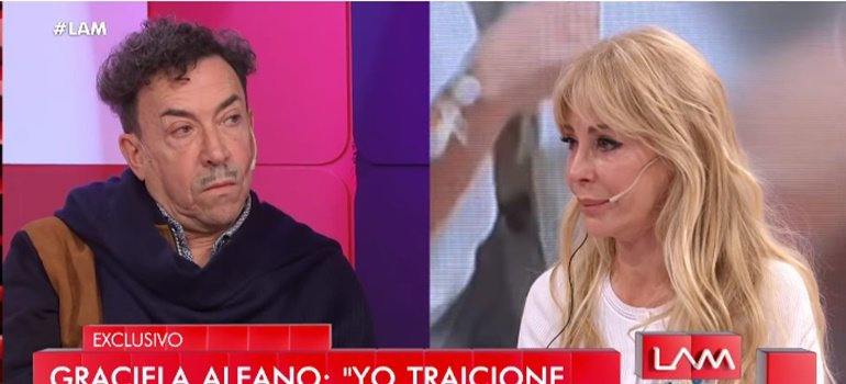 Graciela Alfano se quebró en vivo y le pidió perdón a Anibal Pachano: