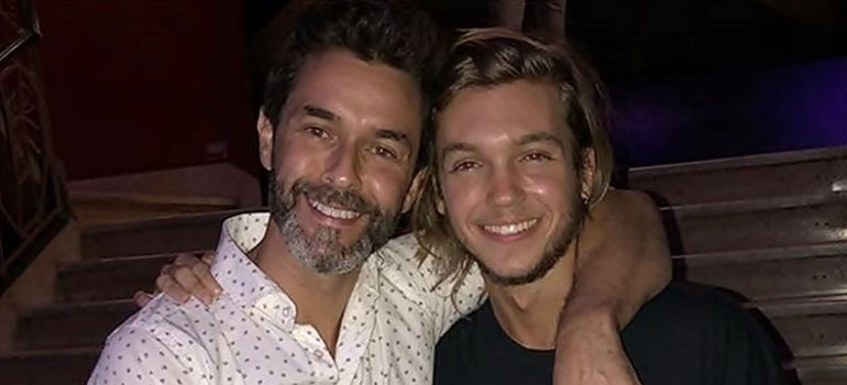 Mariano Martínez saludó a Franco Masini por su cumpleaños