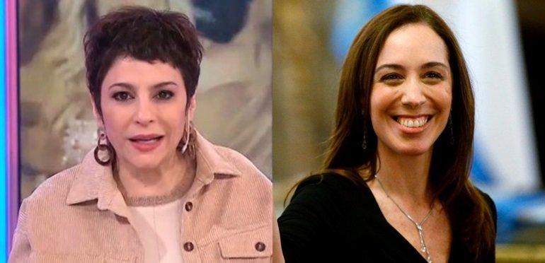 Carolina Papaleo se burló de los dientes de María Eugenia Vidal