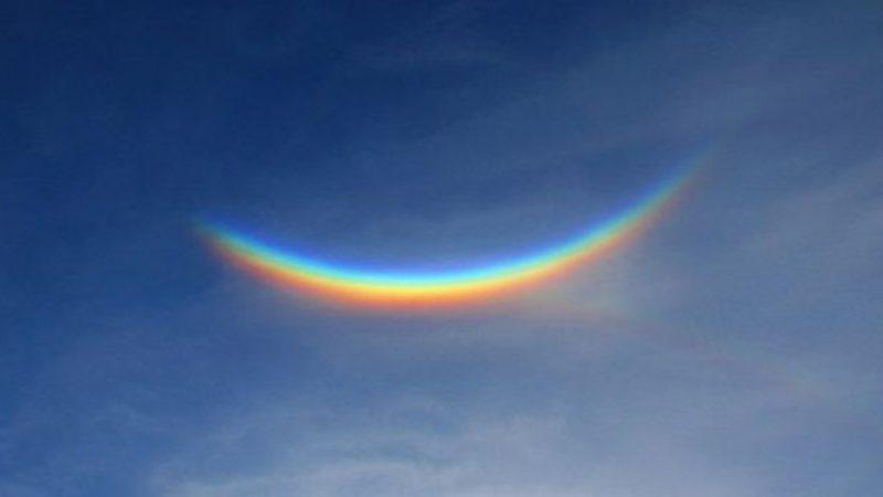 En cuarentena: un extraño arco iris apareció en el cielo de Italia