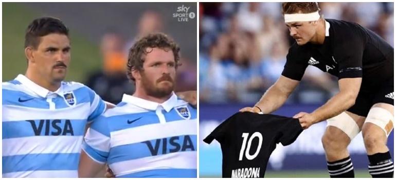 El emotivo homenaje de los All Blacks a Diego Maradona en la previa del partido con Los Pumas