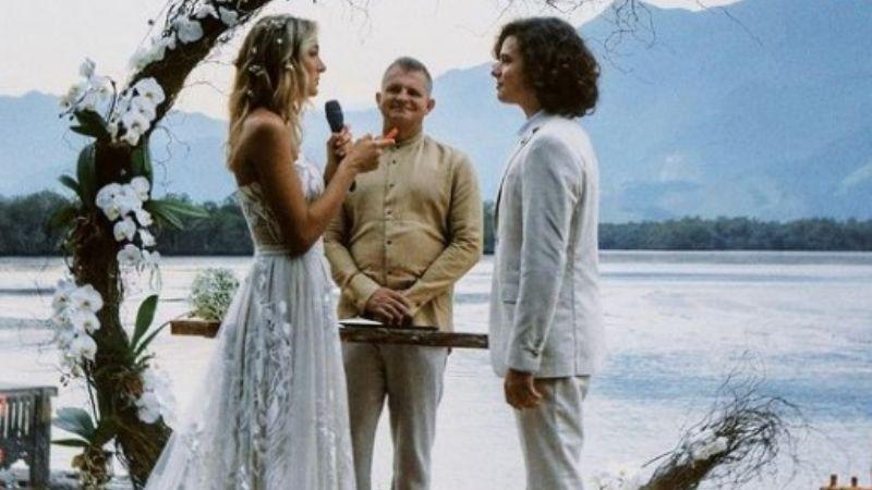 El álbum de bodas de Sasha, la hija de Xuxa: se casó en la playa con el cantante João Figueiredo
