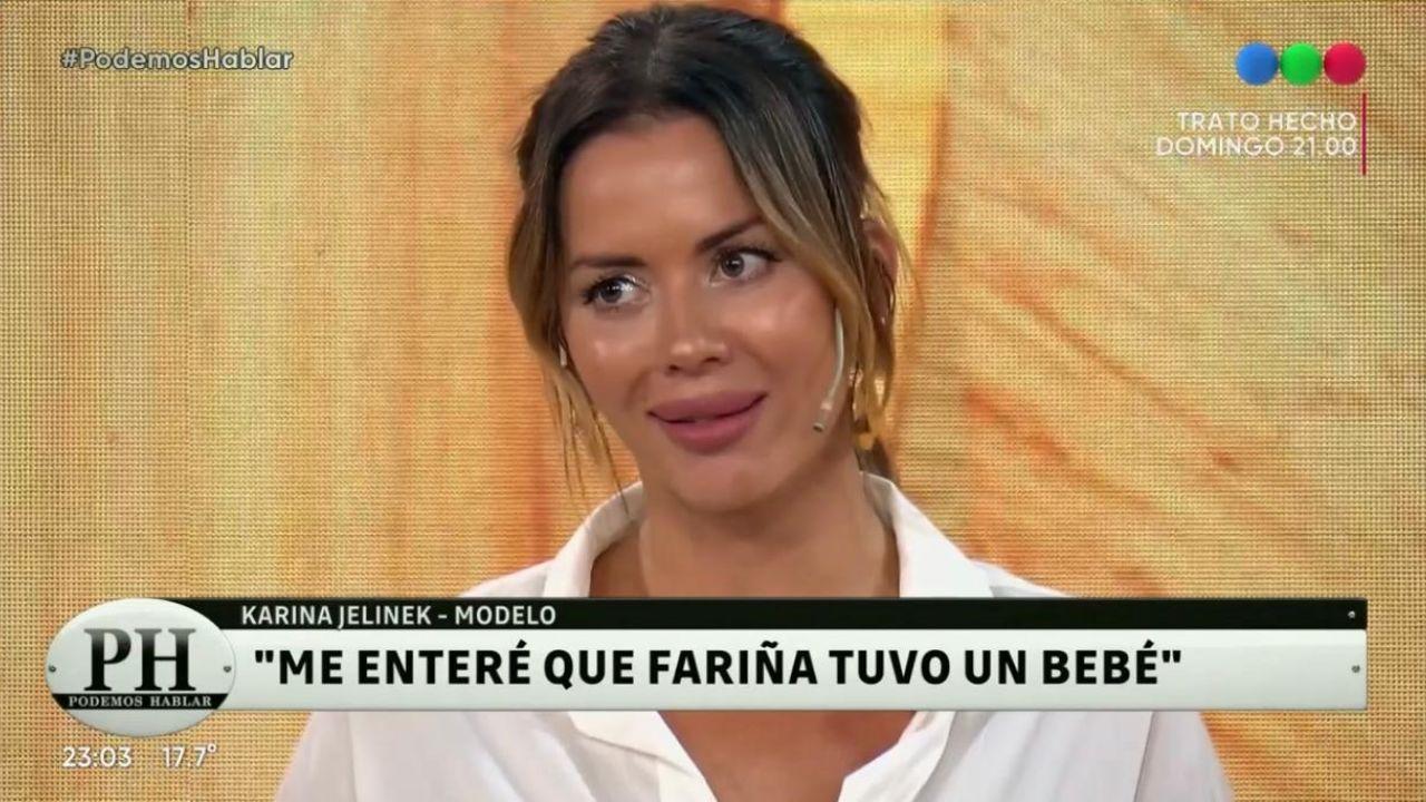 """Karina Jelinek recordó su relación con Leonardo Fariña: """"Lo solté hace rato y le deseo lo mejor"""" - Pronto"""